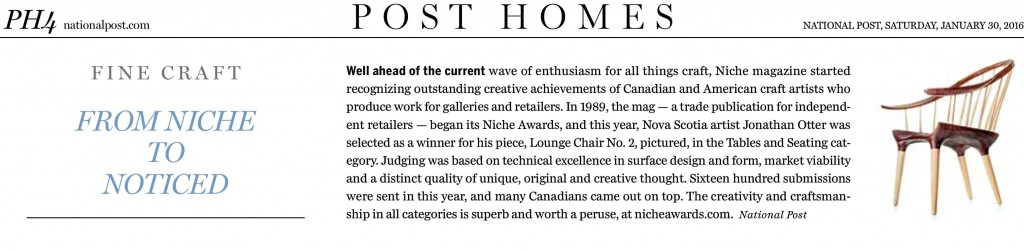 National Post Article-From Niche to Noticed
